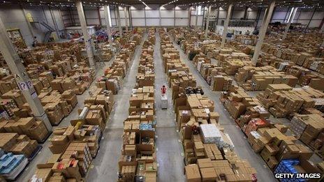 Amazon centre in Swansea