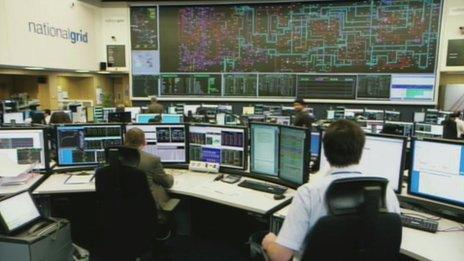 National Grid control centre in Berkshire