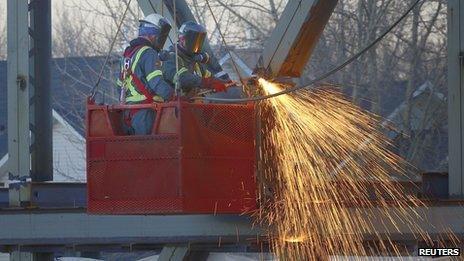 Construction workers in Alberta