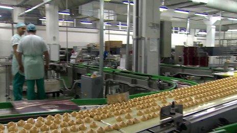 Roshen sweet factory in Kiev