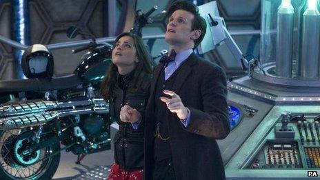 Doctor Who stars Jenna Coleman and Matt Smith