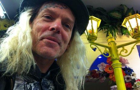 Tattoo artist Woody