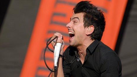 Lostprophets singer Ian Watkins on stage in 2007
