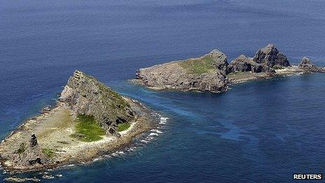 Disputed islands in East China Sea (file image)