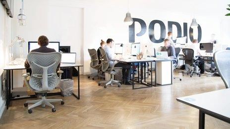 The Podio office near Copenhagen