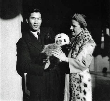 Quentin Young, Ruth Harkness and a panda