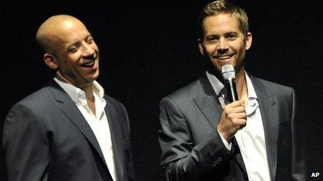 Paul Walker (r) and Vin Diesel