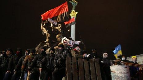 Protesters at Kiev's Independence Square