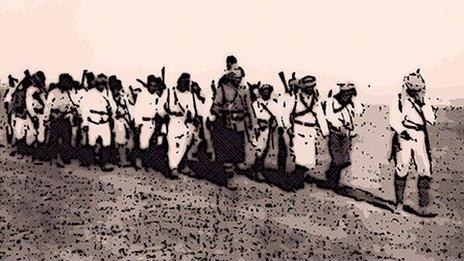 Ottoman troops in 1915
