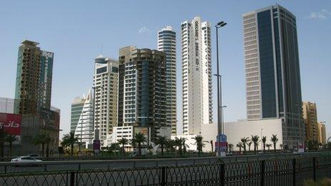 New construction in Manama, Bahrain