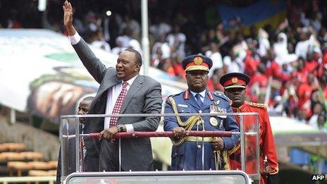 Uhuru Kenyatta at celebrations in Nairobi (12 December 2013)