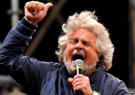 Beppe Grillo - file pic