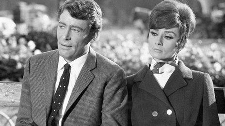 Peter O'Toole with Audrey Hepburn