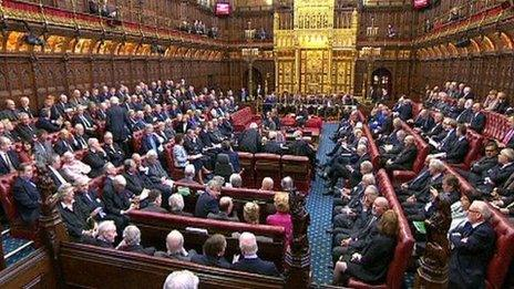 The main chamber of the House of Lords