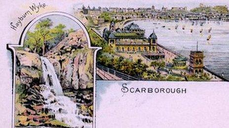 A picture postcard of South Bay and Hayburn Wyke in Scarborough, published by Dennis in 1897. Image courtesy of George Webber.