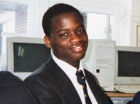 Michael Adebolajo as a schoolboy