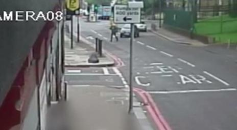 CCTV footage of car about to hit Lee Rigby