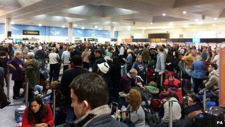 A power failure at Gatwick caused delays and cancellations
