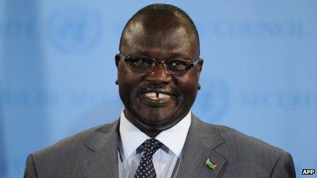 Riek Machar, July 2013