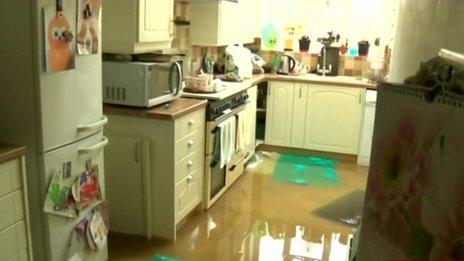 kitchen flooded