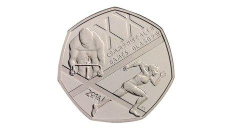 50p coin celebrating the 2014 Commonwealth Games