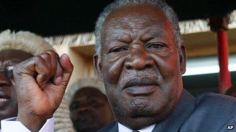 Michael Sata in Lusaka (September 2011)