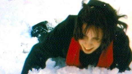 Caroline Wilcock as a girl