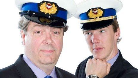 Roger Allam and Benedict Cumberbatch in Cabin Pressure