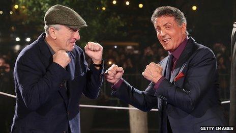 Robert De Niro and Sylvester Stallone