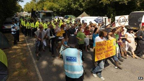 Balcombe protest 21 August