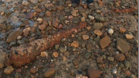 Cannon on beach