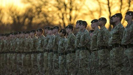Members of 4th Battalion The Rifles