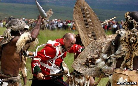 Re-enactment of the Battle of Isandlwana