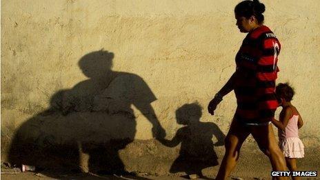Brazilian woman walking
