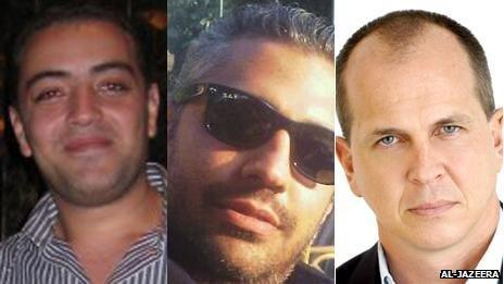 Detained Al-Jazeera English journalists Baher Mohamed, Mohamed Fahmy and Peter Greste (image courtesy Al Jazeera)