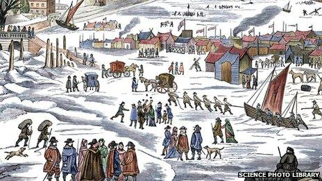 Painting of the Maunder Minimum frost fair