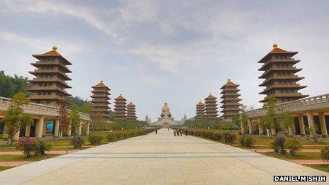 The Fo Guang Shan temple in Kaohsiung
