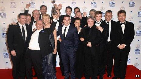 The cast and crew of Mrs Brown's boys
