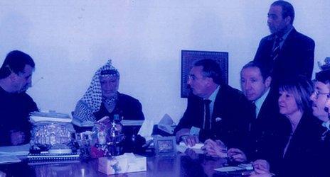 David Abrahams with the late Yasser Arafat