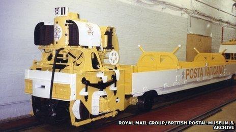 Mail Rail depot mocked up to be fictional Vatican secret railway Posta Vaticano