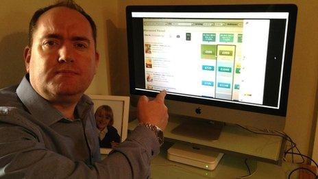 Paul Cookson in front of a computer screen