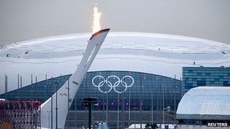 Bolshoy Ice Dome on the Olympic Park in Sochi