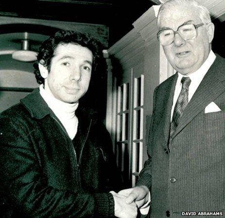 David Abrahams with ex-Labour PM Jim Callaghan