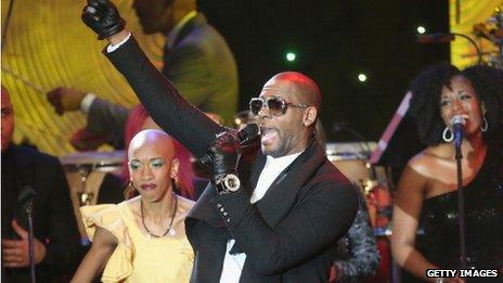R Kelly at a celebration in California