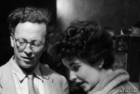 Douglas Slocombe with Elizabeth Taylor