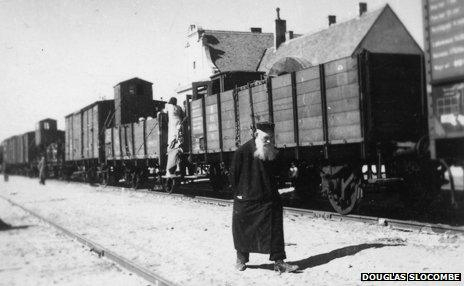 The train which took Slocombe to safety in Latvia