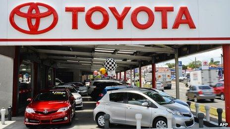 A Toyota car dealership in Sydney