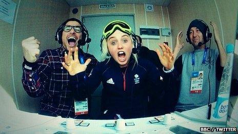 Snowboarding commentators