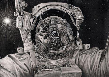Singh Tattal's drawing of an astronaut