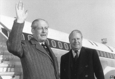 Harold Macmillan and Edward Heath